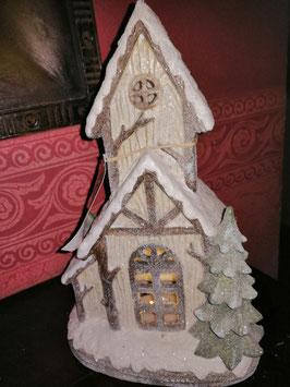 beleuchtetes Winterhaus für den Innen- und Außenbereich