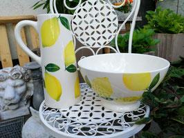 Salatschüssel, Rührschüssel groß Zitrone, Durchmesser 28 cm