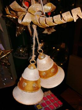 Hänger Glockenpaar champagner/gold