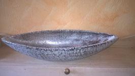 Tischschale Keramik silber/grau