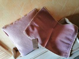 Kissenhülle 40 x 40 in rosé (hier im Bild links)