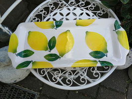 Kuchenplatte eckig,  Zitrone