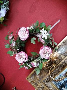 Türkranz, Fensterkranz, Frühlings- und Sommerkranz Rosen