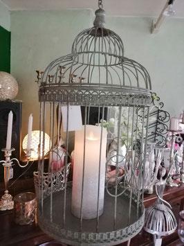 Vogelkäfig zum Hängen als Blumenampel oder Kerzenhalter (große Variante)
