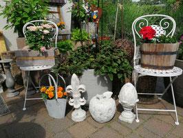 Gartenklappstuhl Metall in cremeweiß