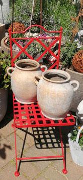 antiker Gartenkrug, Blumenkrug mit Henkel