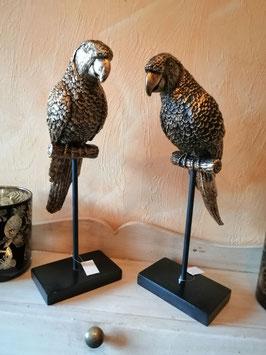 Dekofigur Papagei schwarz/gold
