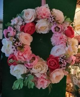 Türkranz, Blumenkranz, Frühlings- oder Sommerkranz Blumen
