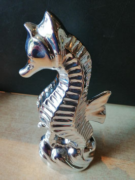 silbernes Seepferdchen in Keramik