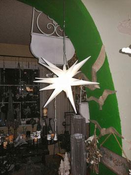 3 D-Stern von Formano mit Kabel, Adapter und Beleuchtung, für den Innen- und Außenbereich geeignet