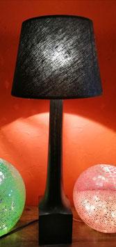 Tischlampe schwarz - Schirm schwarz/ganz dezent silber