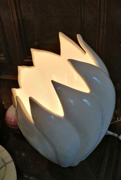 Lampe Blüte weiß Keramik