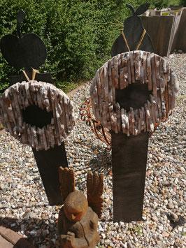 rustikaler Dekokranz aus echtem Treibholz
