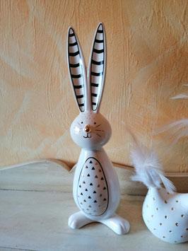 """Dekoosterhase """"Modern Art"""" in Keramik"""