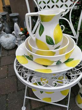 Schale Zitrone, flach, Durchmesser 20 cm