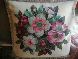 """Kissenhülle """"Blumen"""" 50 x 50"""