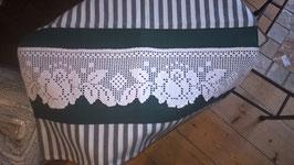 Kissenhülle 40 x 40  grün/weiß mit Spitze