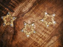 kleine Dekosternchen  in Gold mit Strass