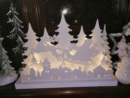 """LED-Fensterleuchter """"Santa mit Schlitten"""" Winter/Weihnachten"""