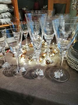 Weißweinglas  (hier links im Bild )