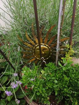 Gartensonne aus Blech zum Stecken oder Hängen