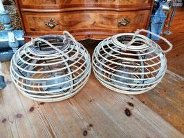 Riesenwindlicht Rattankugel mit Glaseinsatz