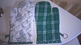 Ofenhandschuh grün/weiß