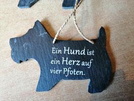 """Spruchschild """"Hund"""" - Ein Hund ist ein Herz auf vier Pfoten"""