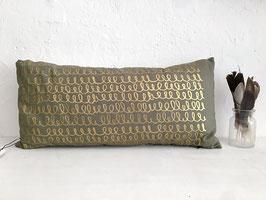 Kissen, Grün/Gold