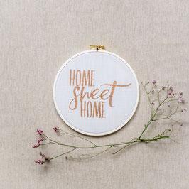 """Spruchrahmen """"Home Sweet Home"""", offwhite/kupfer"""