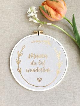 """Wanddeko """"Muttertag"""", Beige/Gold"""