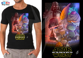 T-Shirt Schwarz: Star Wurst - May the Pork be with you