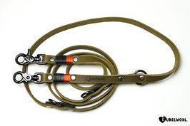 Lederleine 2-fach verstellbar - 1,4 Meter lang
