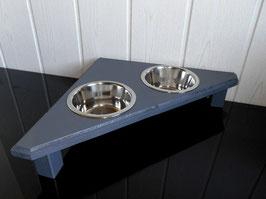 Katzenfutterbar / Eckfutterbar in anthrazit ohne Rückwand