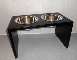 Hundefutterbar, 2 x 2400ml Näpfe, schwarz