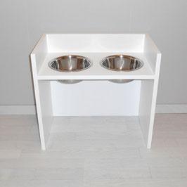 Hundefutterbar, 2 Näpfe, 2 x 1500 ml, in weiß
