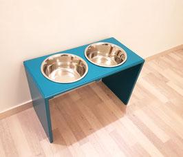 Hundefutterbar, 2 x 2400ml Näpfe, türkis