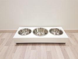 Hundefutterbar, 2 x 1500 ml/ 1 x 2400 ml Näpfe, schwarz, 15 cm hohe Napfebene