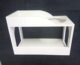 Geschlossener Doppel-Schlafkasten, Spielkasten -lackiert-