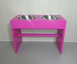 Hundefutterbar, 2 Näpfe, 2 x 2400 ml, pink