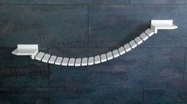 Wandparkelement Hängebrücke 20 cm Tiefe/ Verschiedene Längen!  (lackiert)  Farbwunsch in der Kaufabwicklung angeben!