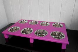 Welpenbar mit 8 Näpfen, pink
