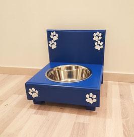 Hundefutterbar mit 1 Napf, blau 2 x 1500ml