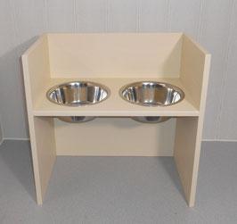 Hundefutterbar, 2 Näpfe, 2 x 1500 ml, in elfenbein