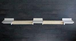 Doppel-Schwebebalken, mit 2 x  50 cm Sisalstamm (lackiert) 175 cm Länge. Farbwunsch beim Kauf angeben