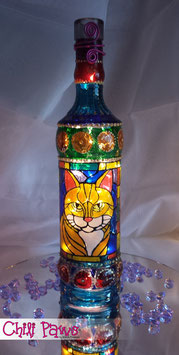 Chili Paws lighted bottle - Ginger Cat