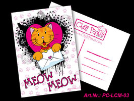 Meow Meow Chili Postcard