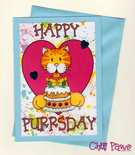 Happy Purrsday 2 Cards Set