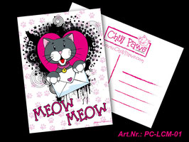 Meow Meow Whiskers Postcard