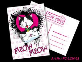 Meow Meow Alfie Postcard